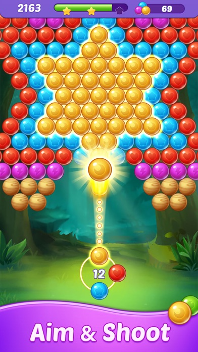 Bubble Shooter-Blast Pop Star Screenshot on iOS