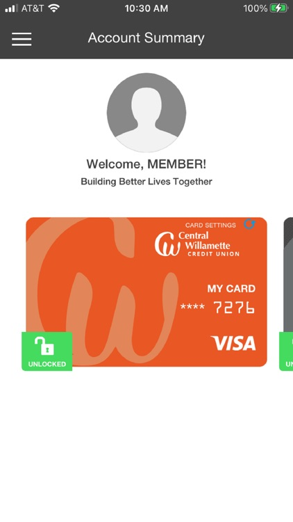 CW Card Controls