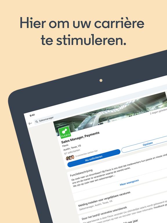 LinkedIn: Een baan zoeken iPad app afbeelding 1