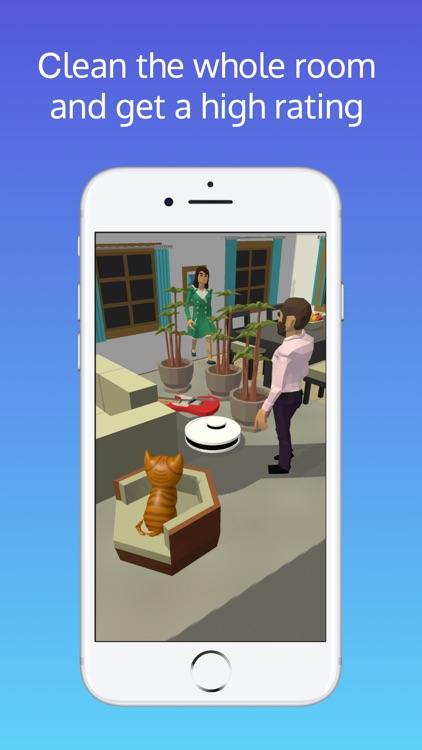 Robot Cleaner 3D funny cleaner screenshot-4