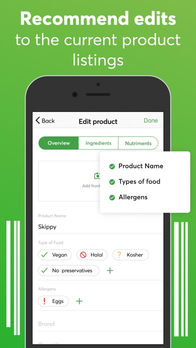 Food scanner: gluten, allergen Screenshot