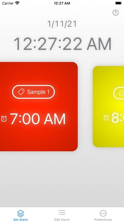 Alarm Clock Cards