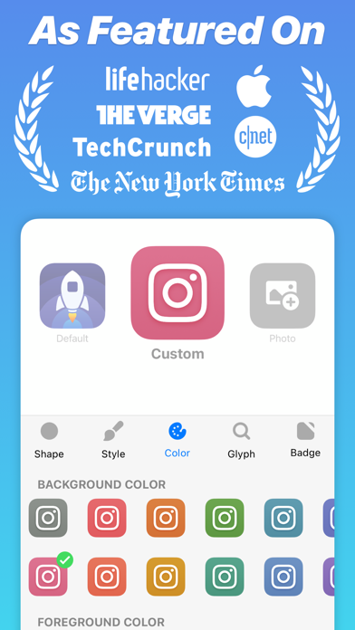 Launch Center Pro - Icon Maker Screenshot