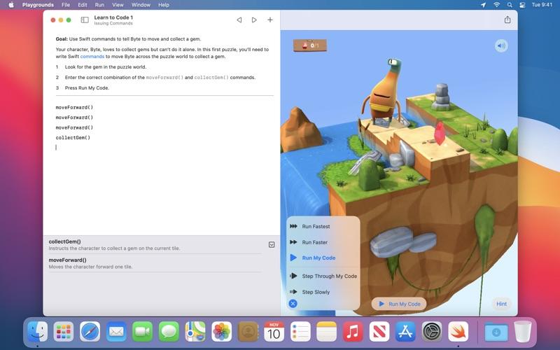 Swift Playgrounds скриншот программы 1