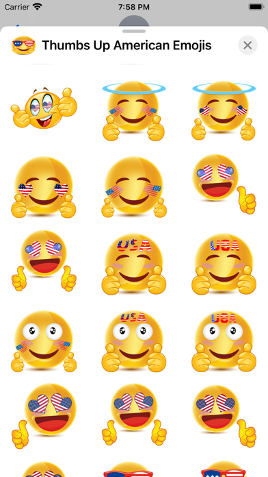 Thumbs Up American Emojis screenshot 2
