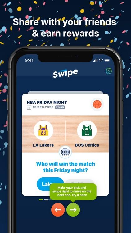 Swipe | The Sports Predictor screenshot-3