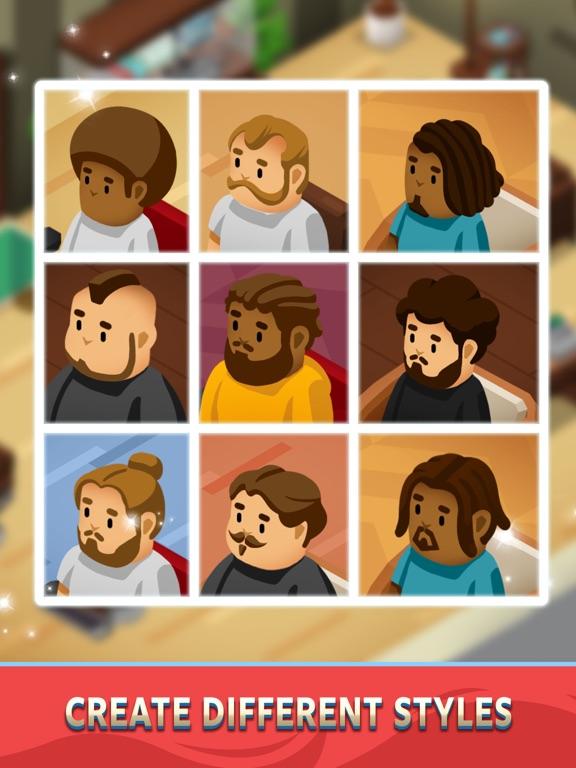 Idle Barber Shop Tycoon - Game iPad app afbeelding 3