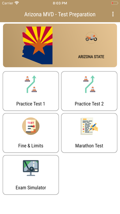 Arizona MVD - Test Preparation Screenshot