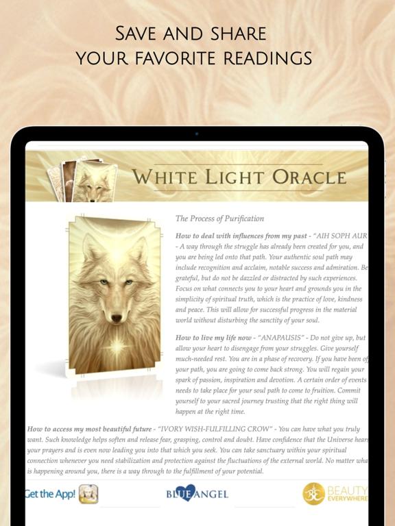 Ipad Screen Shot White Light Oracle 8