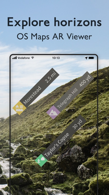 OS Maps: Walking & bike trails