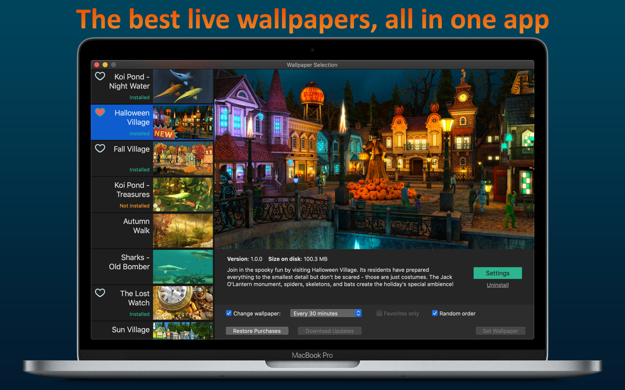 Screen Wonders 1.8.0 Mac 破解版 3D动态屏保壁纸工具