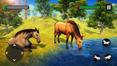 野生の馬の家族の生存3D紹介画像2