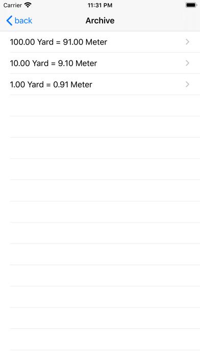 Yard Meter Screenshot