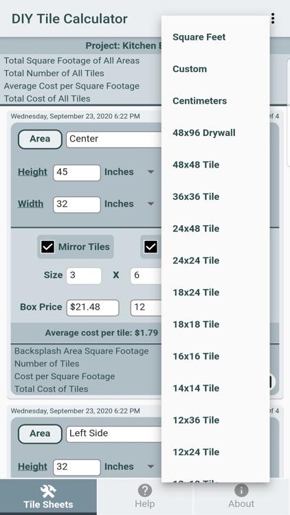 DIY Tile Calculator Pro screenshot-4