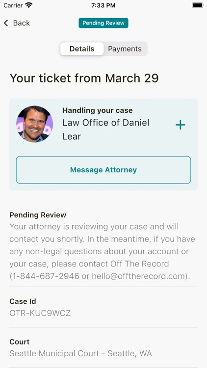 Off The Record: Ticket Lawyer screenshot-8