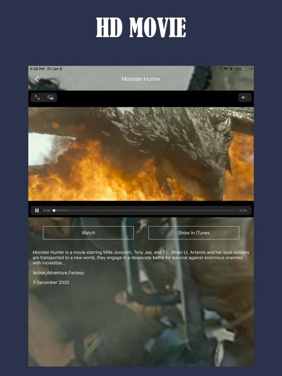 Ipad Screen Shot Tuner Radio Movies Player 2