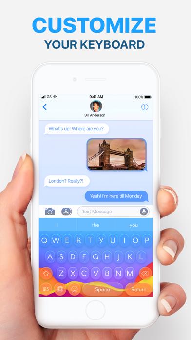 Tastatur: Themen, SchriftartenScreenshot von 1