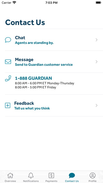 GUARDIAN® Accounts & Policies screenshot-6