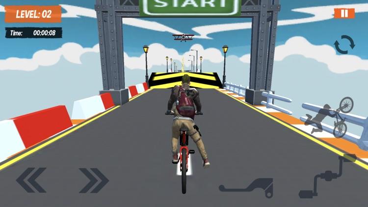 BMX Mega Ramps Stunt Race Game screenshot-4