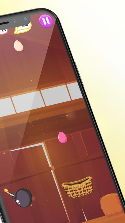 Egg Rain - Collect in basket screenshot-3