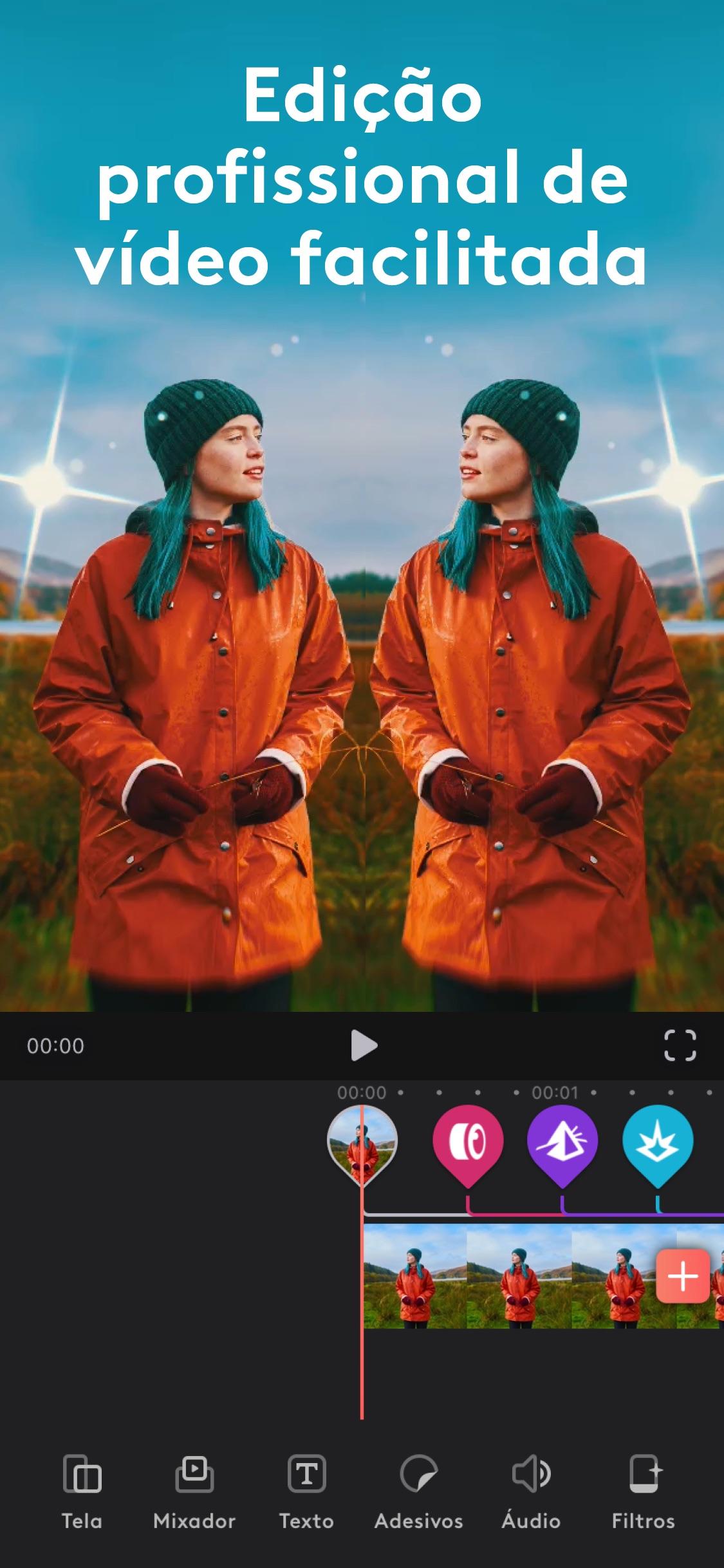 Screenshot do app Videoleap do Lightricks