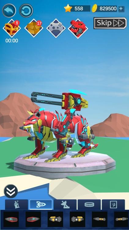 Mechanical Dinosaurs Assembled