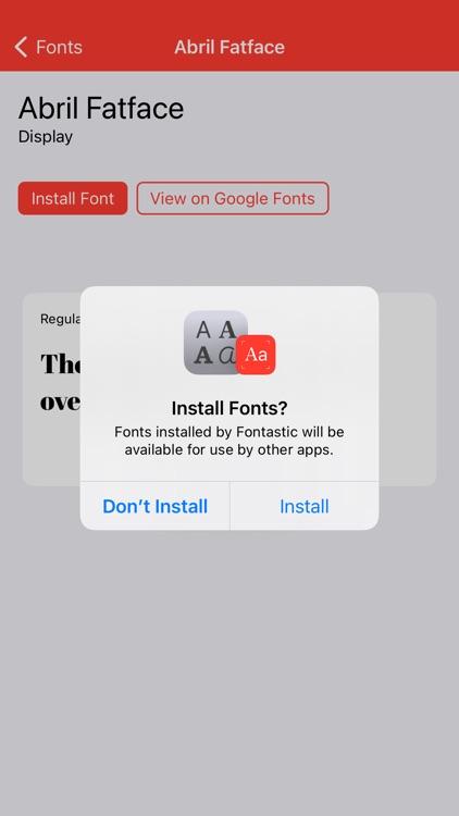 Fontastic - Install Fonts screenshot-6