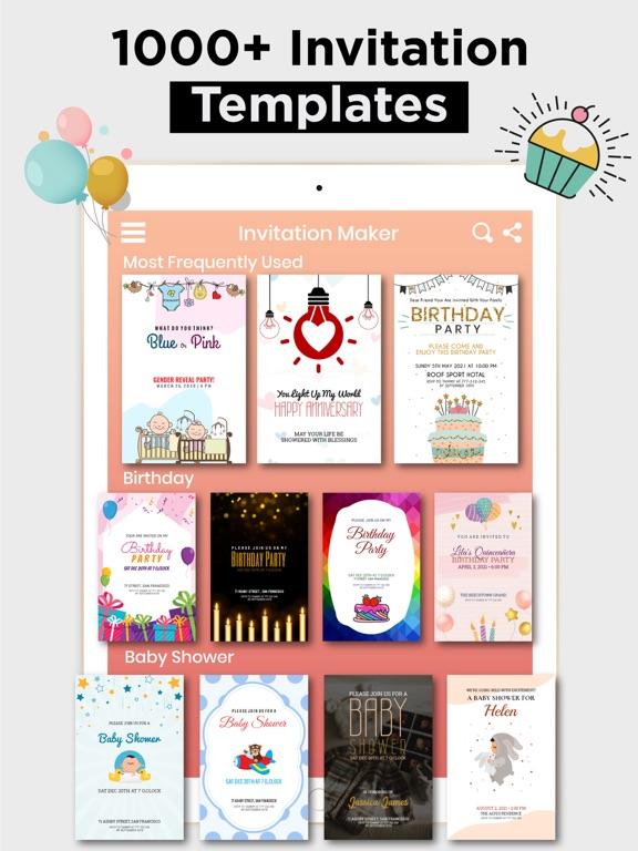 Birthday Invitation Maker Card