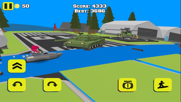 WATER BIKE STUNT RACE GAMES 3D screenshot-4