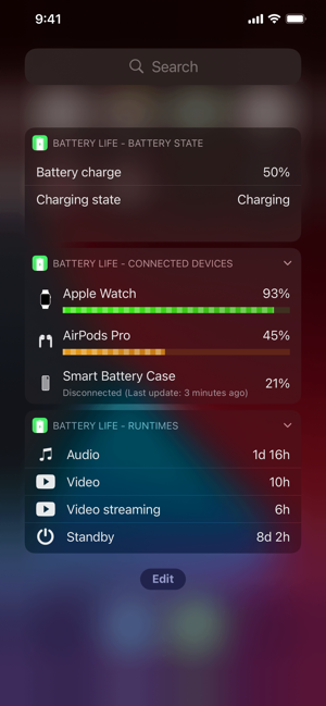 ‎Battery Life Screenshot