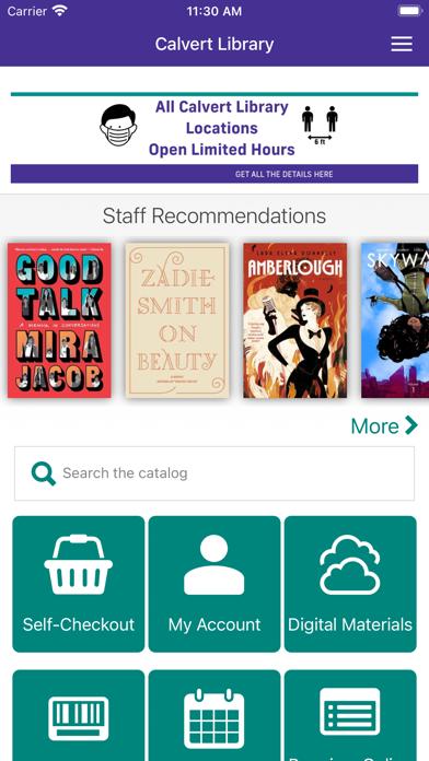 Calvert Library Screenshot