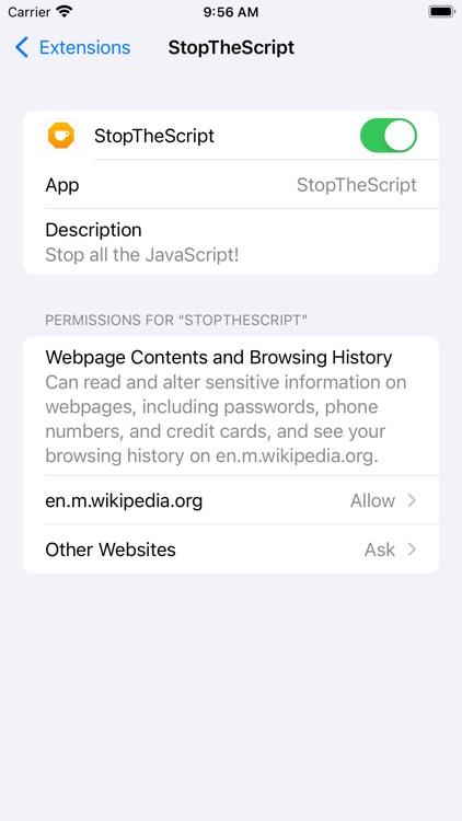StopTheScript screenshot-5