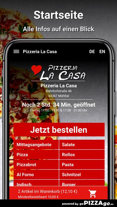 Pizzeria La Casa Mühltal screenshot 4