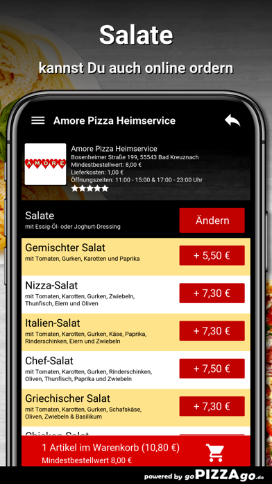 Amore Pizza Bad Kreuznach screenshot 5