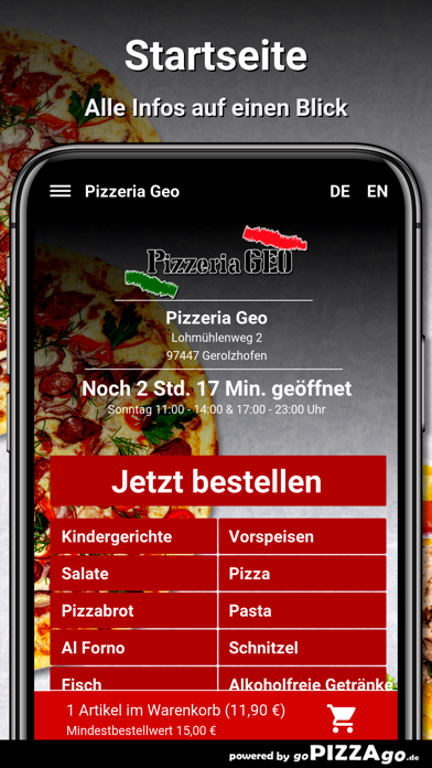 Pizzeria Geo Gerolzhofen screenshot 2