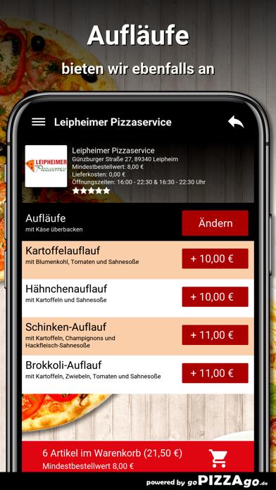 Leipheimer Pizzaservice Leiphe screenshot 6