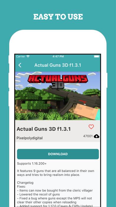 Guns Mod Weapon Addon for MCPE紹介画像4