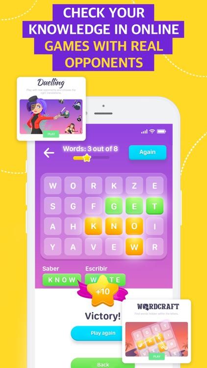 EWA: Learn English & Spanish screenshot-3