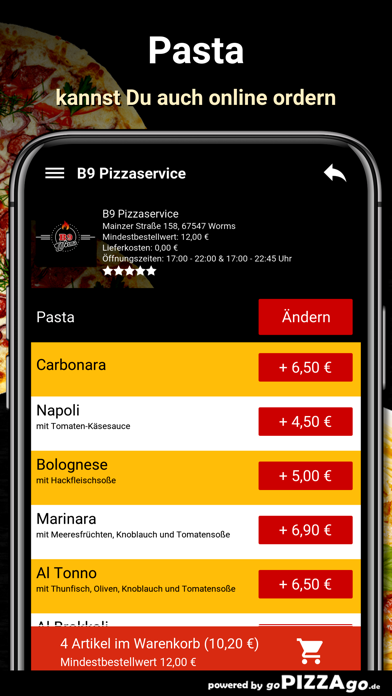 B9 Pizzaservice Worms screenshot 5