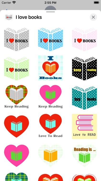 I love books stickers screenshot-3