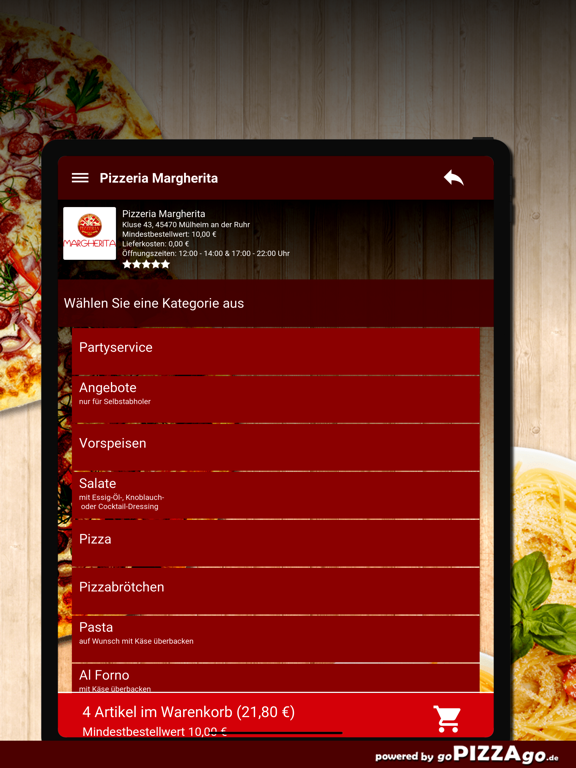 Pizzeria Margherita Mülheim screenshot 8