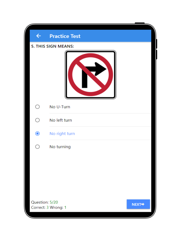 Practice Test USA & Road Signs screenshot 16