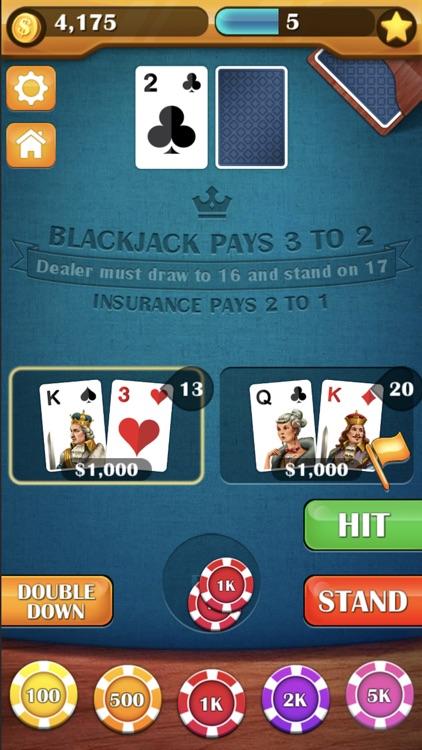 Blackjack 21! Casino Card Game screenshot-3