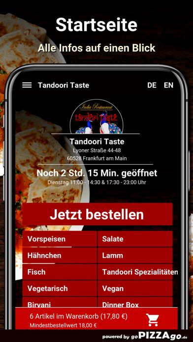 Tandoori Taste Frankfurt screenshot 2