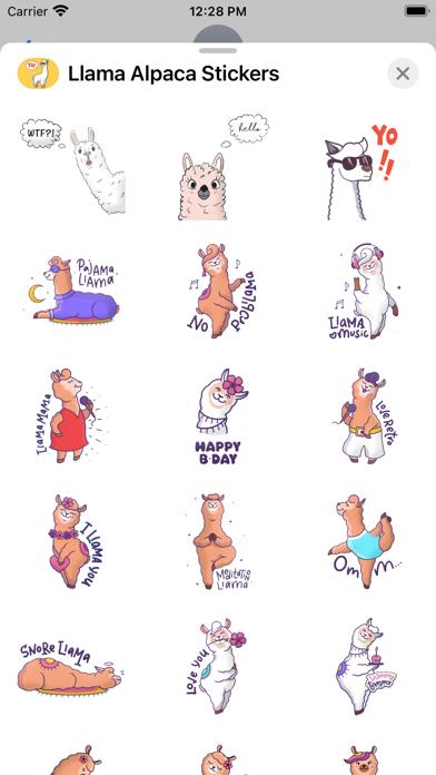 Llama Alpaca Stickers screenshot 2