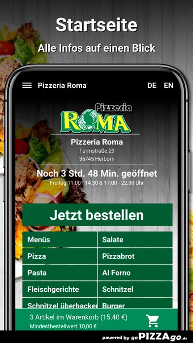 Pizzeria Roma Herborn screenshot 2