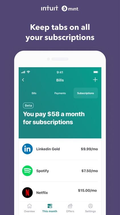 Mint: Budget & Expense Tracker