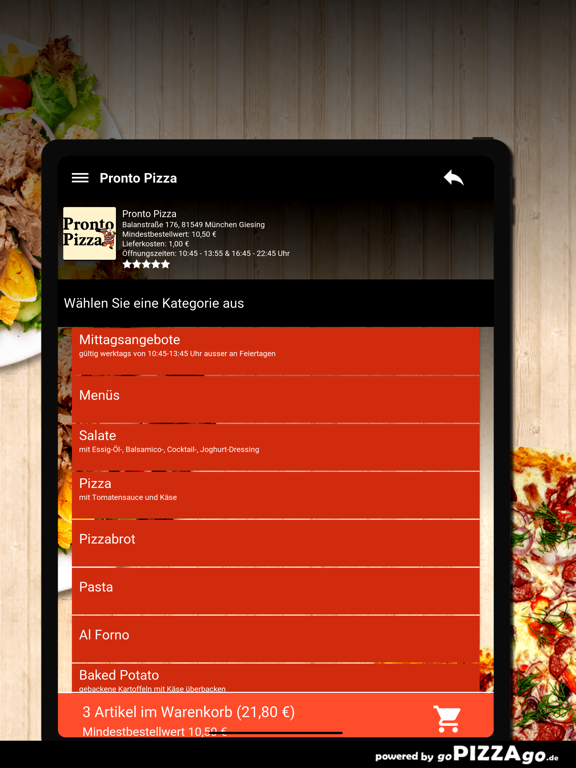 Pronto Pizza München Giesing screenshot 8