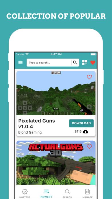 Guns Mod Weapon Addon for MCPE紹介画像2