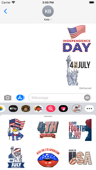 Independence Day USA Stickers screenshot 1